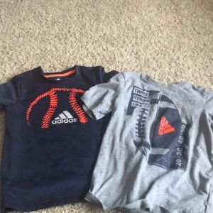 Two adidas shirts